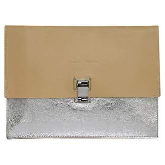 03ca10ccfc6d Proenza Schouler Silver Leather Clutch Bag