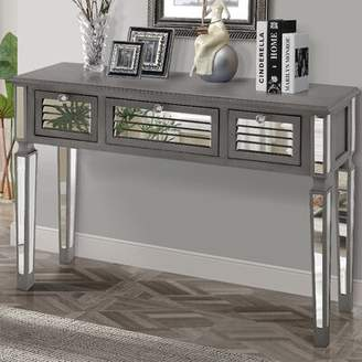 Gallerie Decor Summit Mirrored Console Table Gallerie Decor