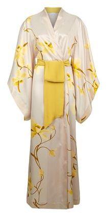Carine Gilson Printed Silk Kimono