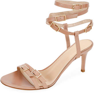 Gianvito Rossi Strappy Buckle Leather Sandals
