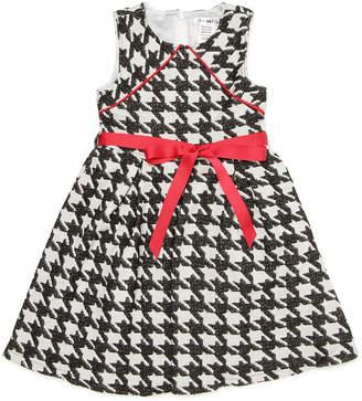 Joe Ella ALLEY 千鳥格子 パイピング リボンベルト付 ドレス ブラック 6