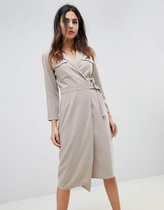Asos Design DESIGN utility midi dress with pockets and d-ring belt