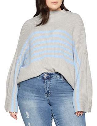 Studio Untold Women's Streifen-Pullover Jumper,XXXX-Large (Size: 54+)