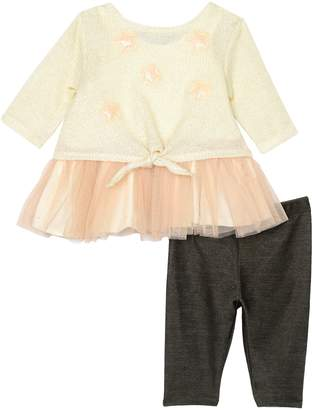 Pippa & Julie Tutu Top, Sweater & Leggings Set