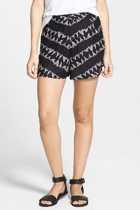 RVCA 'Lower Deck' Print High Waist Shorts (Juniors) $52 thestylecure.com