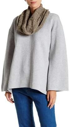 TOV Long Sleeve Jersey Knit Sweater