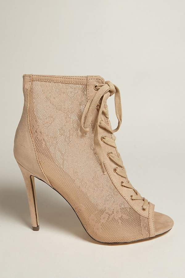 FOREVER 21 Lace High Heels