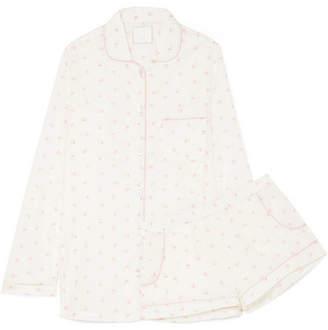 Three J NYC Josephine Printed Cotton Pajama Set - White