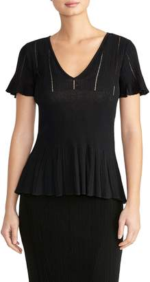 Rachel Roy Collection Flutter Sleeve Knit Top