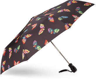 Moschino Black Butterflies Auto Open & Close Umbrella