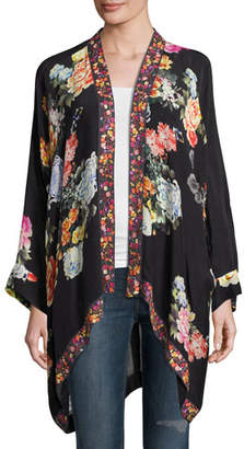Johnny Was Jazzy Kimono-Style Printed Jacket