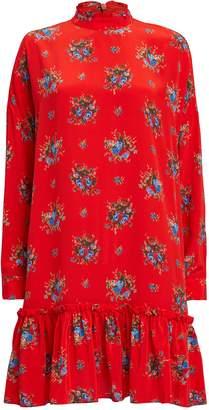 Ganni Kocchar Fiery Red Shift Dress