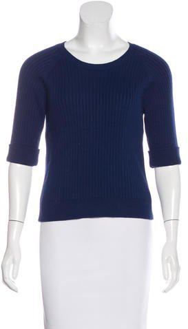 Carven Carven Rib Knit Crew Neck Sweater w/ Tags