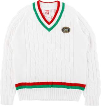 Lacoste Supreme Tennis Sweater - 'SS 16' - White