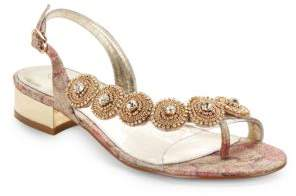 Adrianna Papell Daisy Rhinestone Sandals $119 thestylecure.com