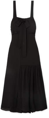 3.1 Phillip Lim Cutout Silk Maxi Dress - Black
