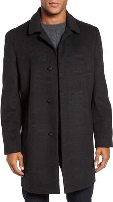 Hart Schaffner Marx Turner Plaid Wool Blend Topcoat