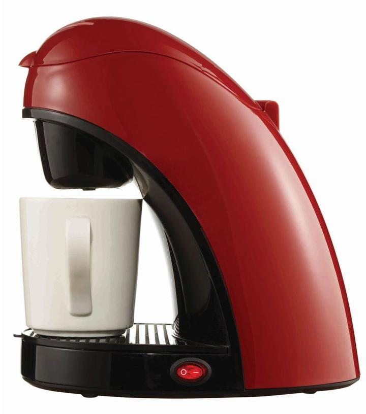 Brentwood Single Cup Coffee Maker in Red