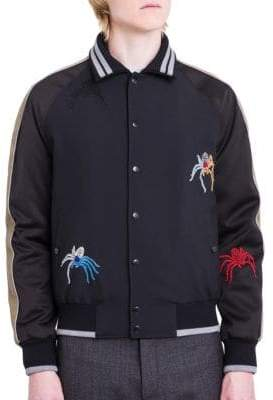 Lanvin Embroidered Spider Baseball Jacket