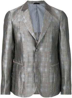 Giorgio Armani checked print jacket