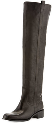 Delman Sofie Over-the-Knee Leather Boot, Black $498 thestylecure.com