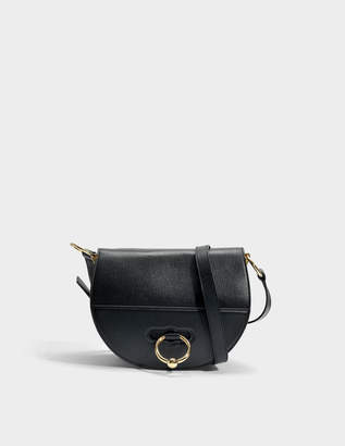 J.W.Anderson Latch Bag in Black Grained Goatskin Leather