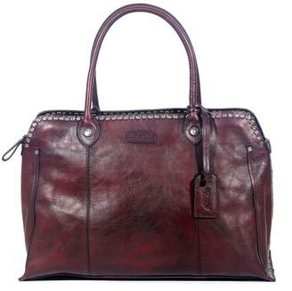 Old Trend Soul Stud Leather Satchel Bag