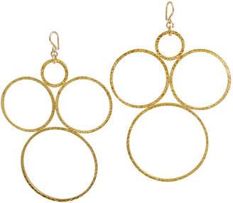 Devon Leigh Gold-Plate Open Circle Earrings