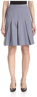 Society New York Women's Box Pleat Ponte Skirt
