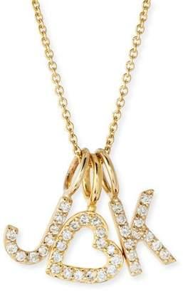 Sarah Chloe Amelia Layered Diamond Initial Necklace