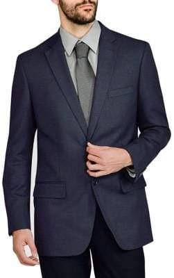 Haggar Tailored-Fit Melange Twill Suit Jacket