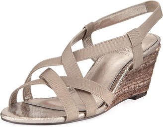 Adrianna Papell Elastic Stretch Wedge Sandals