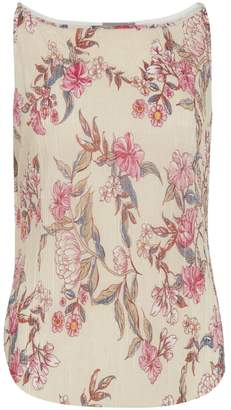 B.young Floral Pleated Tank