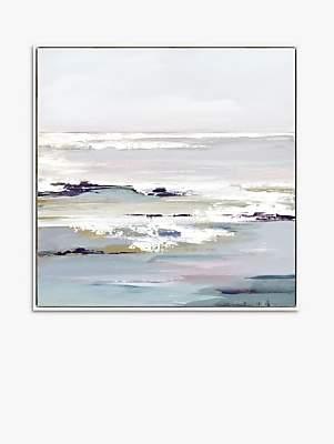 John Lewis & Partners Valeria Mravyan - Purple Tides II Framed Canvas Print, 104.5 x 104.5cm, Purple