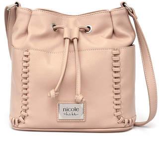 Nicole Miller Nicole By Aubrey Faux Leather Bucket Bag