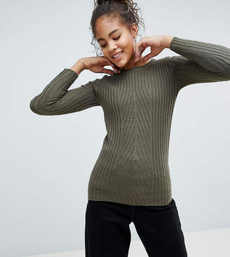Brave Soul Tall Rosa Ribbed Crew Neck Sweater