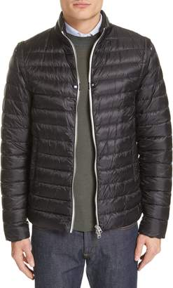 Herno Down Nylon Hybrid Jacket with Detachable Sleeves