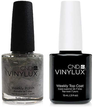 CND Creative Nail Design Vinylux Silver Chrome Nail Polish & Top Coat (Two Items), 0.5-oz, from Purebeauty Salon & Spa