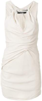 Jacquemus V-neck fitted dress