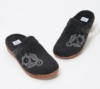 Earth Clogs with Floral Detail - Aurora Jackie