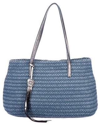 Eric Javits Leather-Trimmed Woven Tote
