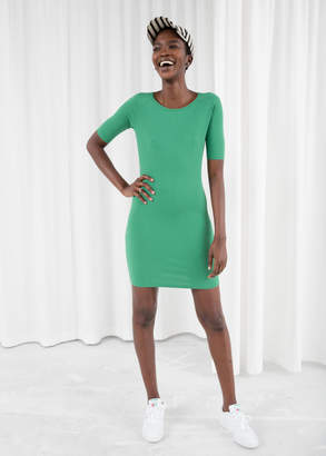 And other stories Ribbed Fitted Mini Dress