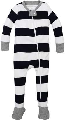 4041b66d7 Burt's Bees Rugby Stripe Organic Baby Zip Up Footed Pajamas