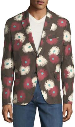 Valentino Men's Dandelion Silk-Twill Blazer