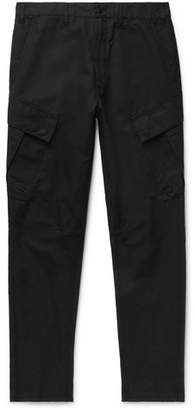 Stone Island Shadow Project Tapered Cotton And Linen-Blend Cargo Trousers