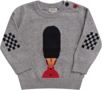 Paul Smith Grey Babyboy Sweater With Queens Guard
