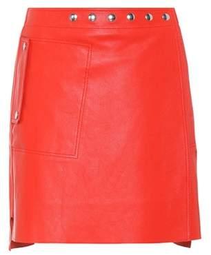 Acne Studios Studded leather miniskirt
