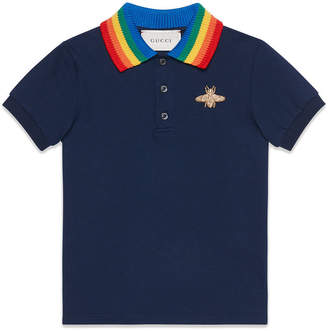 Gucci Kids Children's cotton polo with bee
