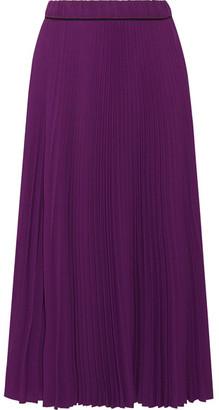 Marc Jacobs - Pleated Crepe De Chine Midi Skirt - Purple $495 thestylecure.com