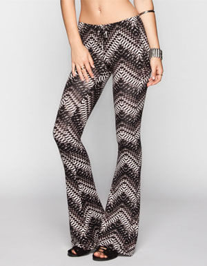 Full Tilt Ethnic Print Womens Flare Leggings